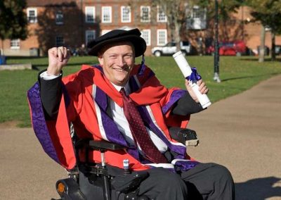Geoff Holt - University of Winchester Honorary Doctorate of Sport